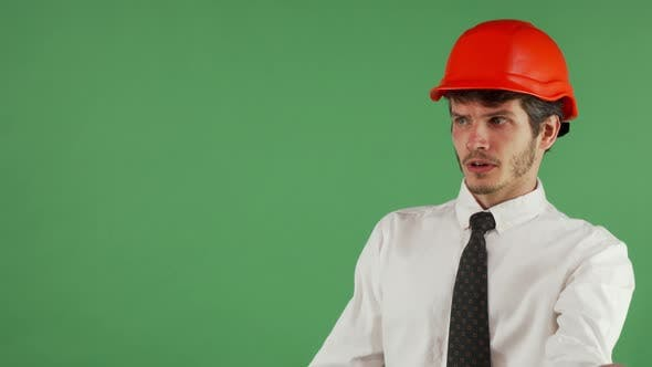 Thumbnail for Angry Male Engineer Shouting at Someone on Chromakey