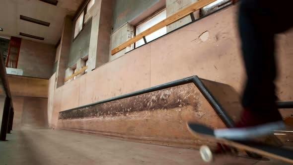 Thumbnail for Skater Boy Enjoying Practice in Indoor Skate Park