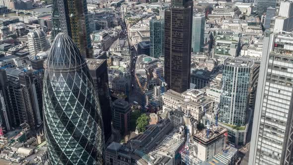 Thumbnail for London city aerial helicopter flight urban skyline