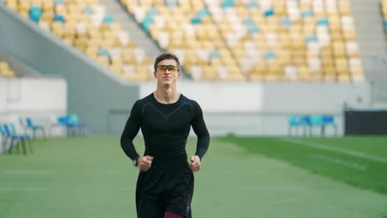 Thumbnail for Male Running on Stadium