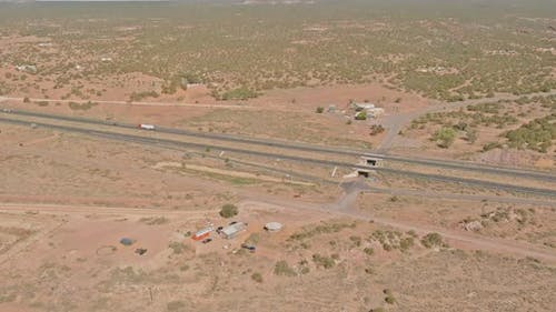 Highway Road in the New Mexico Desert Southwestern USA