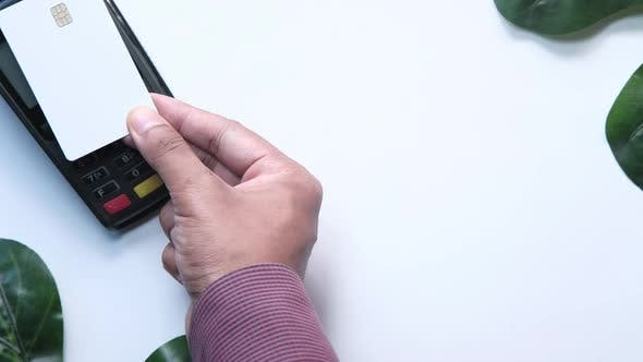 Thumbnail for Payment Terminal Charging From a Card, Contactless Payment.