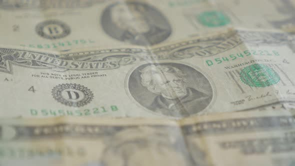 Thumbnail for American twenty dolar paper money banknotes in the row slow   tilt 4K 2160p 30fps UltraHD footage- L