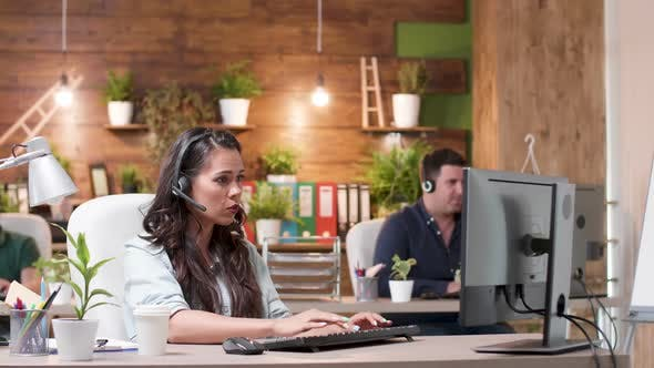 Thumbnail for Customer Service or Sales Operators Working in a Cozy Office