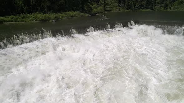 Thumbnail for Slow Motion Aerial On Fresh White Water With Strong River Current Over