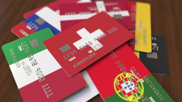 Cover Image for Credit Cards with Flag of Switzerland Among Others