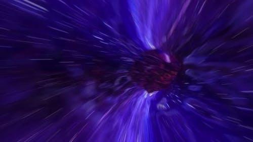 Fast Galaxy Travel Through Wormhole 4k