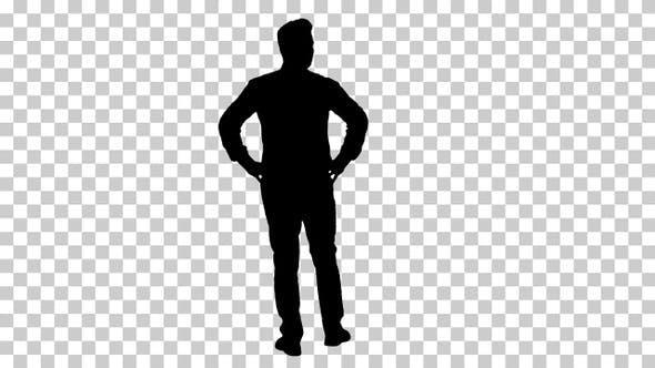 Silhouette Man, Alpha Channel