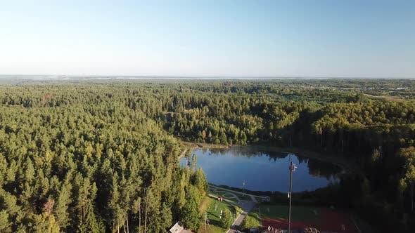 Thumbnail for In den Wolken über dem See Borovno