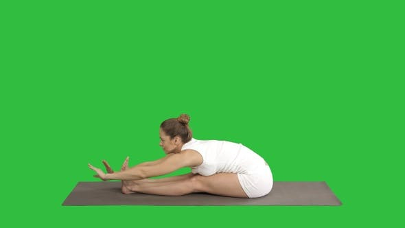 Thumbnail for Young sporty attractive woman practicing yoga doing Seated
