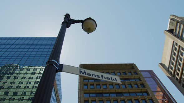Thumbnail for Light pole with street signs, in Montreal