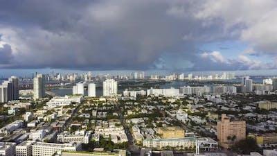 Miami and Stormy Sky
