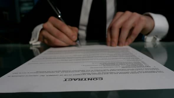 Thumbnail for Business People Signing the Contract To Conclude a Deal