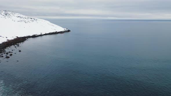 Thumbnail for Snowy blue winter landscape of Arctic ocean