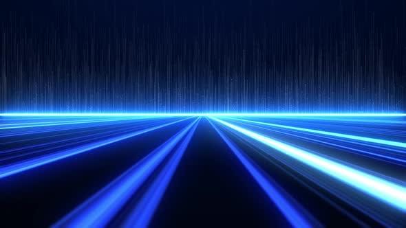 Thumbnail for Digital High Tech Blue Lines Background 4K