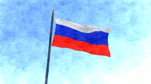 Russia Flag Stop Motion