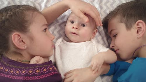 Cheerful Children Care Baby