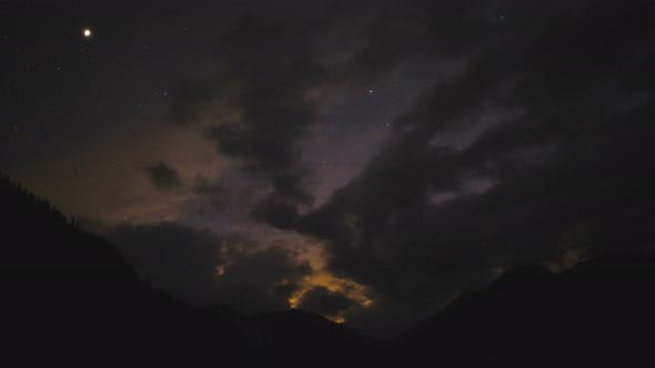Thumbnail for Starry Sky With Moving Clouds