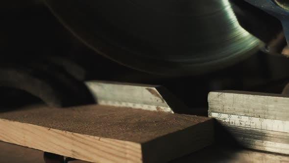 Thumbnail for Sawing Wood. Close-up.