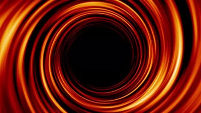 Abstract Fire Swirl Logo Background Loop 4K