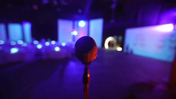Thumbnail for Microphone on Stage at a Concert Venue 2
