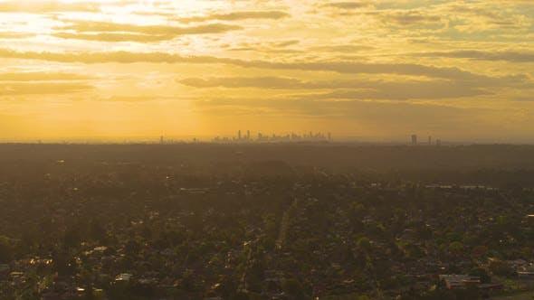 Thumbnail for Melbourne City Golden Hour Sun Rays
