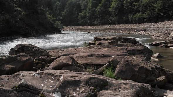 Big Boulders in Mountain River
