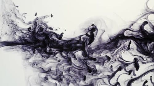 Ink squirting in water
