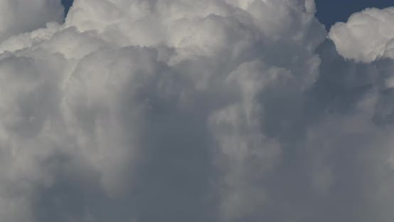 Formation Of Cumulonimbus Clouds In Close Up