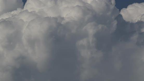 Formation Of Cumulonimbus Clouds In Close Up