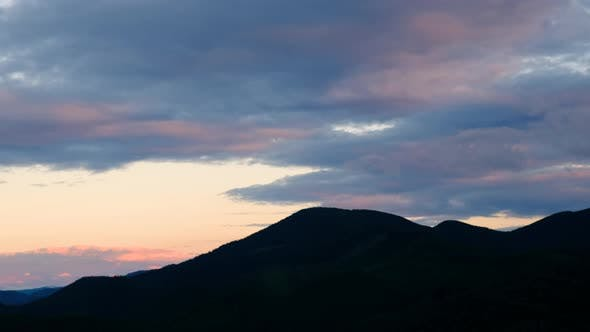 Thumbnail for Mountains During Mist. Beautiful Natural Landscape at The Summer Time During Sunrise.