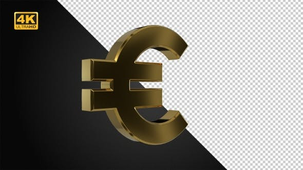 Thumbnail for Goldenes rotierendes Eurosymbol - 4K