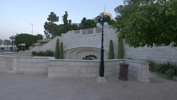 Thumbnail for The architectural structure in Baha'i Gardens