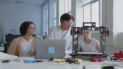 Science Lesson in a Laboratory School
