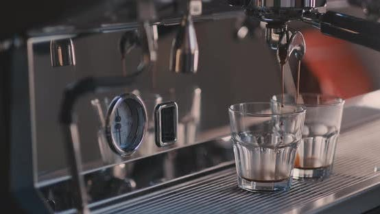 Thumbnail for Female Tender Hand Putting Glass with Chocolate and Condensed Milk in a Milk Frother of a Coffee