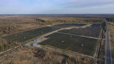 Solar Power Plant. Solar Panels