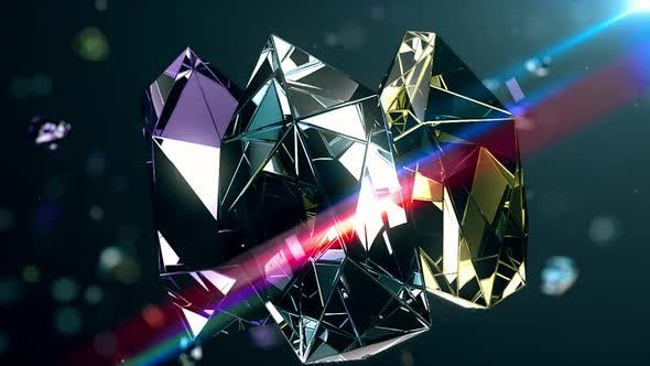 Colorful Cleancut Diamonds Floating 3