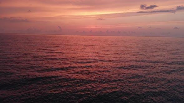Thumbnail for Flying over the Black sea at sunset. Batumi. Sakartvelo