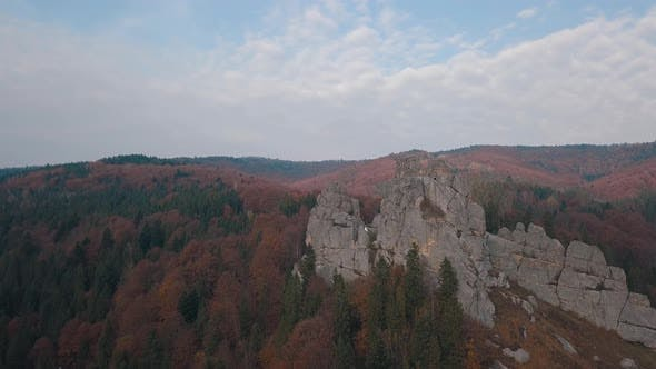 Thumbnail for Impressive Drone Shot of the Mountain Hills in Forest. Autumn. Aerial View