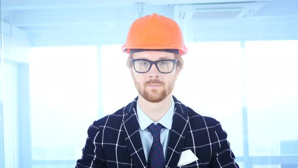 Thumbnail for Serious Architectural Engineer with Red Hairs
