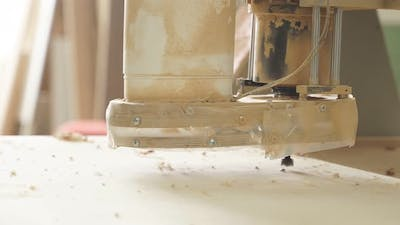 Working Device for Wood Milling Video Closeup