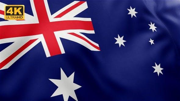 Thumbnail for Flagge von Australien - 4K