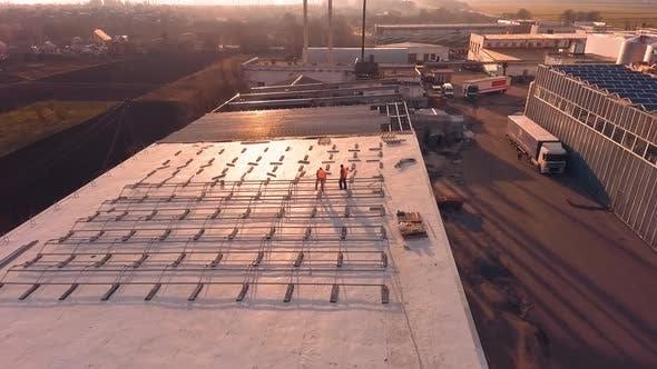 Thumbnail for Solar technician installing panels. Installing alternative energy photovoltaic solar panels on roof