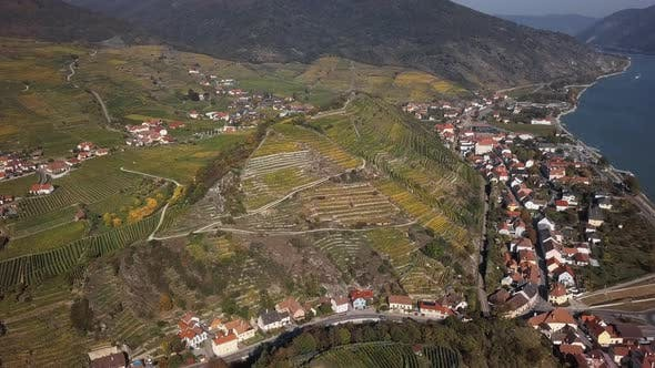 Thumbnail for Aerial of Spitz, Wachau Valley