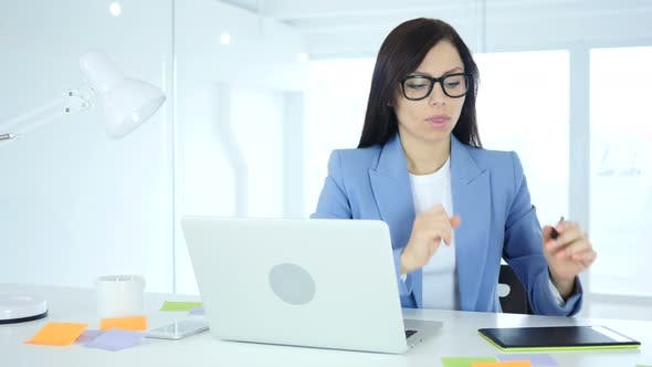 Thumbnail for Female Designer Thinking and working in Office