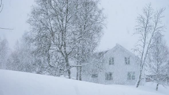 Thumbnail for Wooden House During Hard Snowfall 3