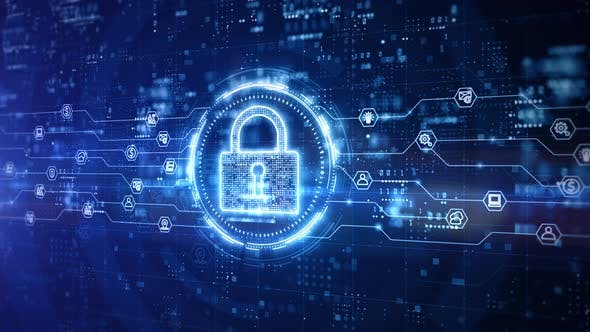 Padlock Of Cyber Security 966