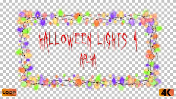 Thumbnail for Halloween Lights Frame Alpha 04