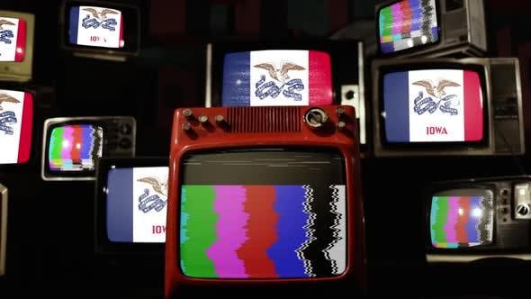 Thumbnail for Flag Of Iowa on Retro TVs.