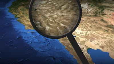 Magnifying Glass Finds Los Angeles City